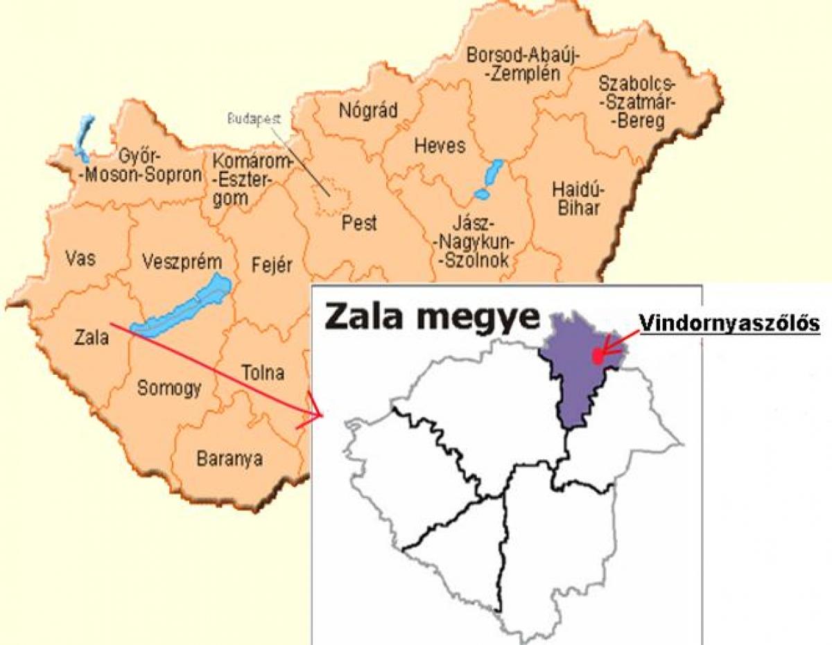 balaton térkép megyék Vindornyaszőlős   Megközelítés, térkép balaton térkép megyék